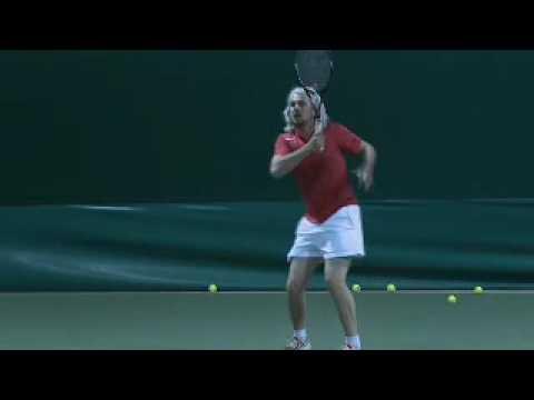 modern tennis dropshot slowmo