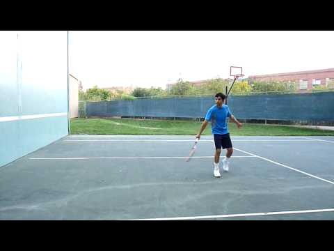 Tennis Backhand dropshot slow motion - Shashi