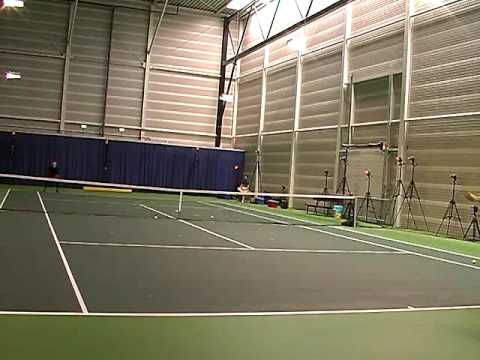 3D Tennis, Backhand service return dropshot, Laurense tennisacademy