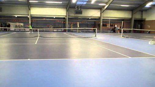 KNLTB BNB Tennis Training; Lars Kuipers gecamoufleerde dropshot